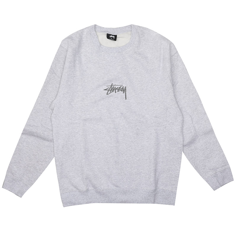 [스투시] STUSSY STOCK APP CREW (GREY HEATHER) [118294-GHEA]